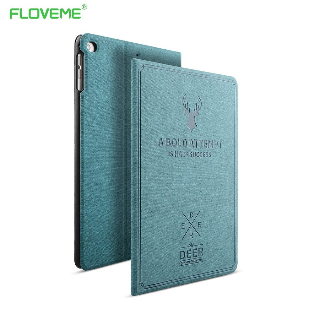 FLOVEME For Apple iPad Mini 1 2 3 4 Case <font><b>Auto</b></font> Sleep /Wake Up Flip PU Leather Cover Cases For iPad Air 2 1 Smart Stand Folio Case