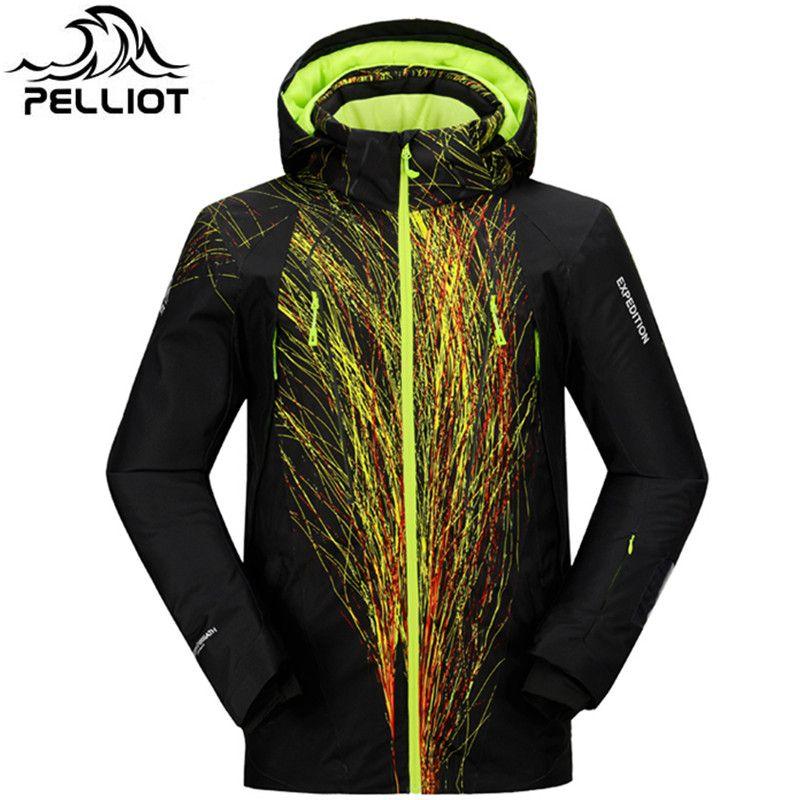 Pelliot Marke Ski-jacke Männer Wasserdichte Warme Schnee Winter Jacke Männlichen Super Atmungsaktive Outdoor Mountain Ski Anzug Ski Mantel
