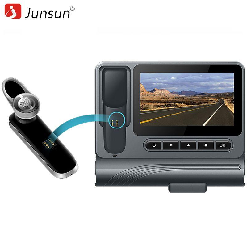 Junsun S90 Voiture DVR Caméra Dash Cam 1080 P avec Bluetooth Séparée casque Vidéo Enregistreur Double Lentille Voiture Caméscope Nuit Vision