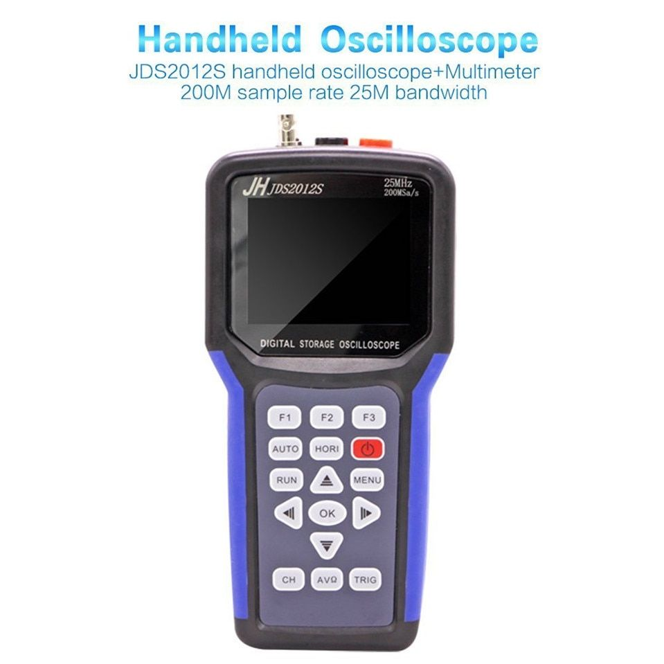 2017 High Quality Original Jinhan JDS2012S handheld Digital oscilloscope and 6000 counts Digital Multimeter, 25MHz 200MSa/s