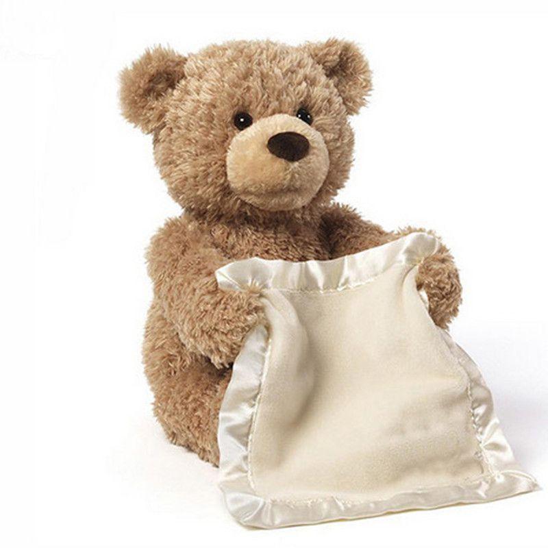 Peek a Boo Teddy Bear Play Hide And Seek bear Lovely Cartoon Stuffed Bear Cute soft Music Plush Toy