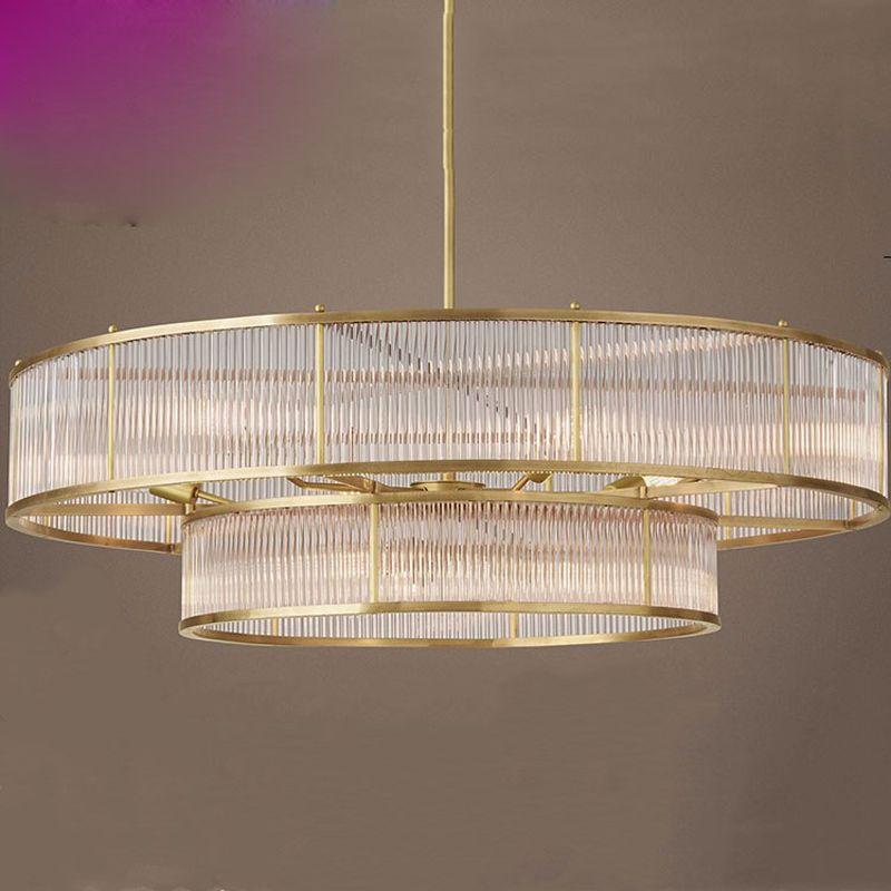 Amerikanischen einfache glas kronleuchter Nordic persönlichkeit Villa wohnzimmer lampe moderne kreative Europäische runde kristall lampen beleuchtung