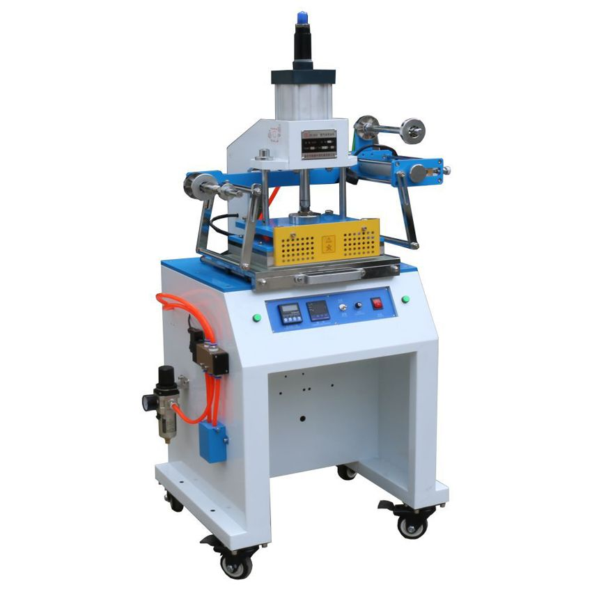 1pc Pneumatic Hot Foil Stamping Machine,Branding Machine,Marking press,Debossing machine on business card,leather,wood