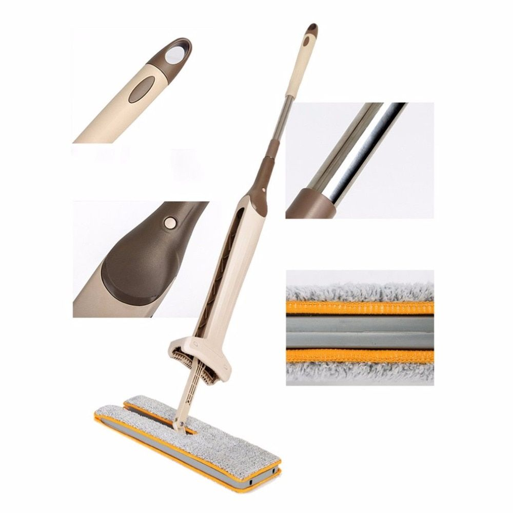 <font><b>Drop</b></font> Shipping Self-Wringing Double Sided Flat Mop Telescopic Comfortable Handle Mop Floor Cleaning Tool For Living Room Kitchen