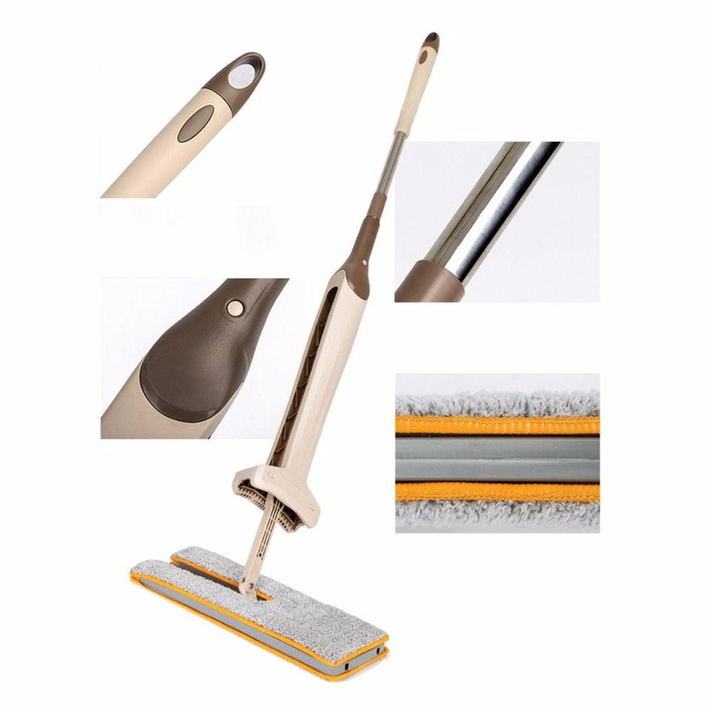 Drop Shipping Self-Wringing Double Sided Flat Mop Telescopic Comfortable Handle Mop Floor Cleaning <font><b>Tool</b></font> For Living Room Kitchen