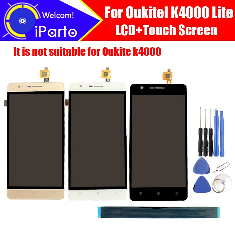 5.0'' <font><b>Oukitel</b></font> K4000 Lite LCD Display+Touch Screen Digitizer 100% Original LCD Screen Glass Panel Assembly For K4000 Lite