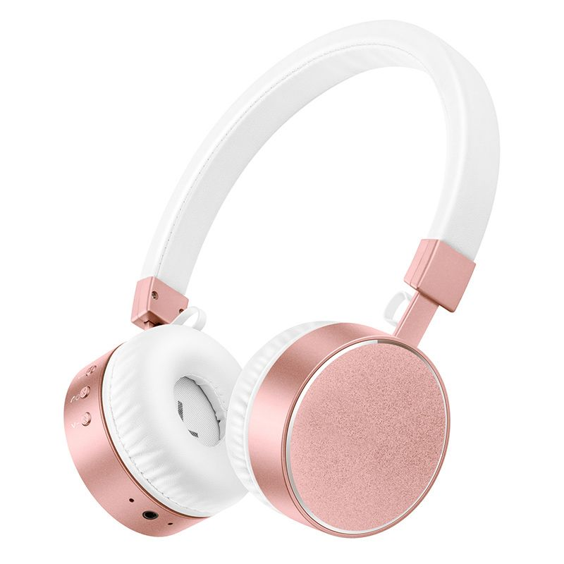 Stereo Bluetooth Kopfhörer mit Mic Rose Gold Drahtlose Headsets für xiaomi redmi 4 pro für TV PC Mp3-player Mädchen kopfhörer