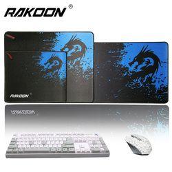 Rakoon скорость/Управление версия большой игровой коврик для мыши геймер запирающийся край мыши клавиатуры коврик большой Настольный коврик ...