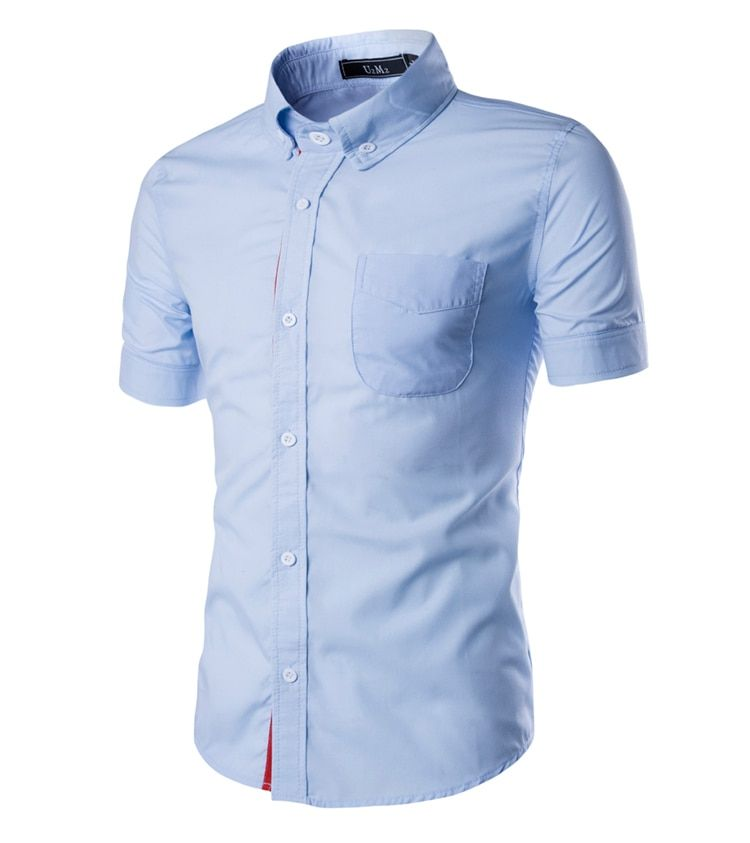 cavalrywolf summer Hiking Breathable Mens short Sleeve Shirts  Solid Mens Short Sleeve Shirts With Collar Chemise Homme