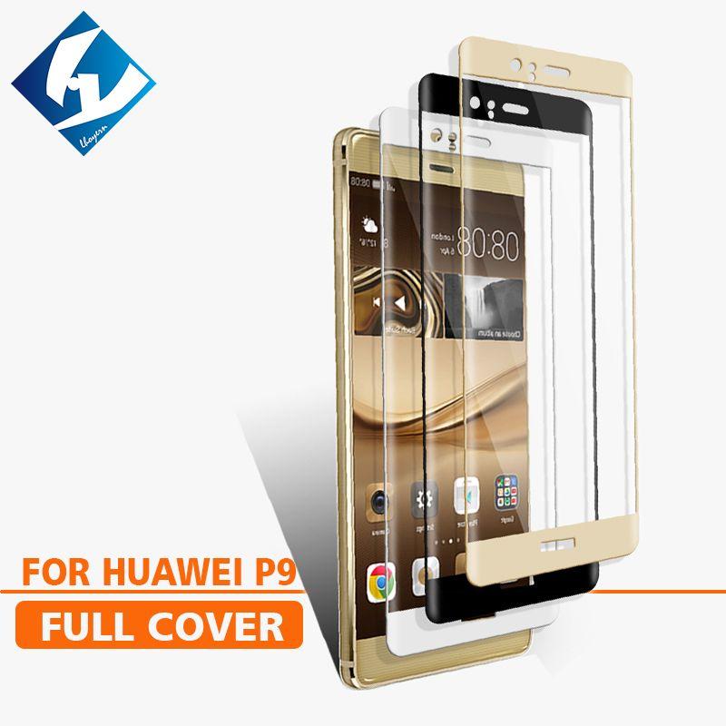 3D Courbe Pour Huawei P9 couverture Complète Écran Protecteur en verre Trempé Film De Protection Pour EVA-AL00 EVA-L19 EVA-L29 EVA-L09 5.2