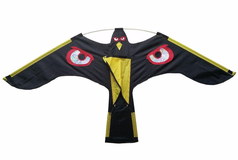 Vogel repeller-Schwarz Flying Hawk kite für garten Vogelscheuche garten dekoration, kite nur