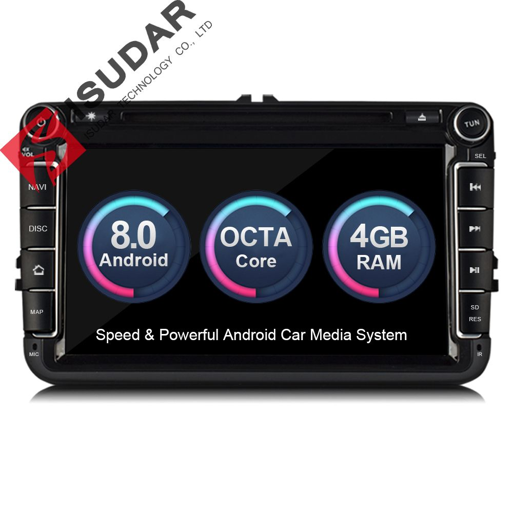 Isudar Car Multimedia player Android 8.0 GPS 2 Din Car Radio Audio Auto For VW/Volkswagen/POLO/PASSAT/Golf Octa Core FM AM Radio