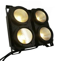 Kombinasi 4x100 W 4 Mata LED Blinder Cahaya COB Hangat Putih DIPIMPIN Daya Tinggi Profesional Tahap Pencahayaan Untuk Lantai Dansa pesta