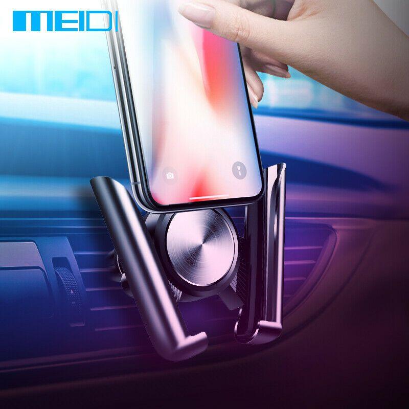 Support de voiture MEIDI pour téléphone portable support d'aération support universel de voiture pour téléphone portable pour iPhone Sumsang Xiaomi HUAWEI