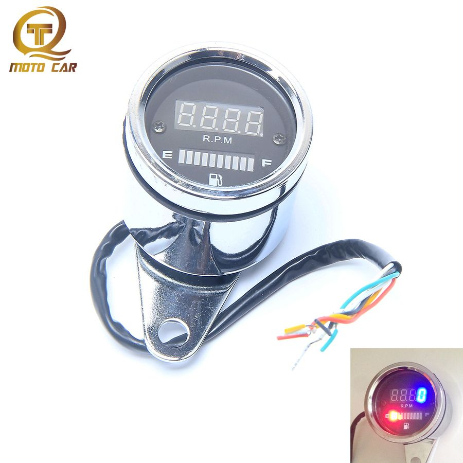 Motorcycle Tachometer Speedometer Fuel Gauge DC 12V LED Digital Display Instruments for Yamaha YZF R1 R6 YZF 600R MOTO Accessory