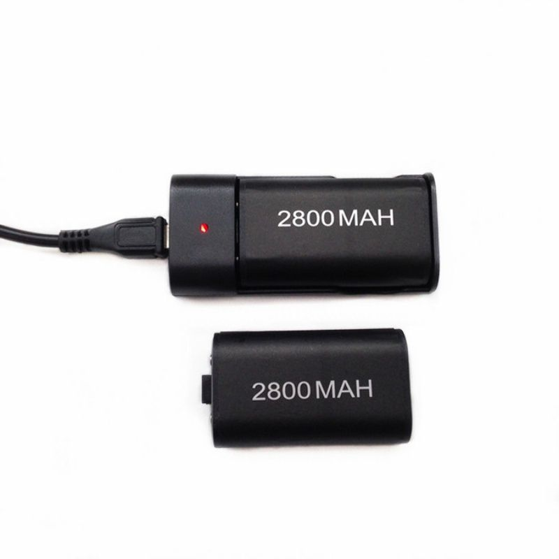 Pack Charging Battery Station Dock 2 x 2800mAh Rechargeable Batteries USB Charger Cable for Xbox One Wireless Controller