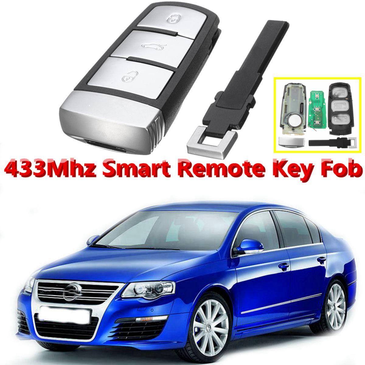 3 tasten 433 mhz Auto Keyless Entry Fernbedienung Flip Key Fob ID48 Chip Für VW Magotan Passat CC FCCID 3C0959752BA