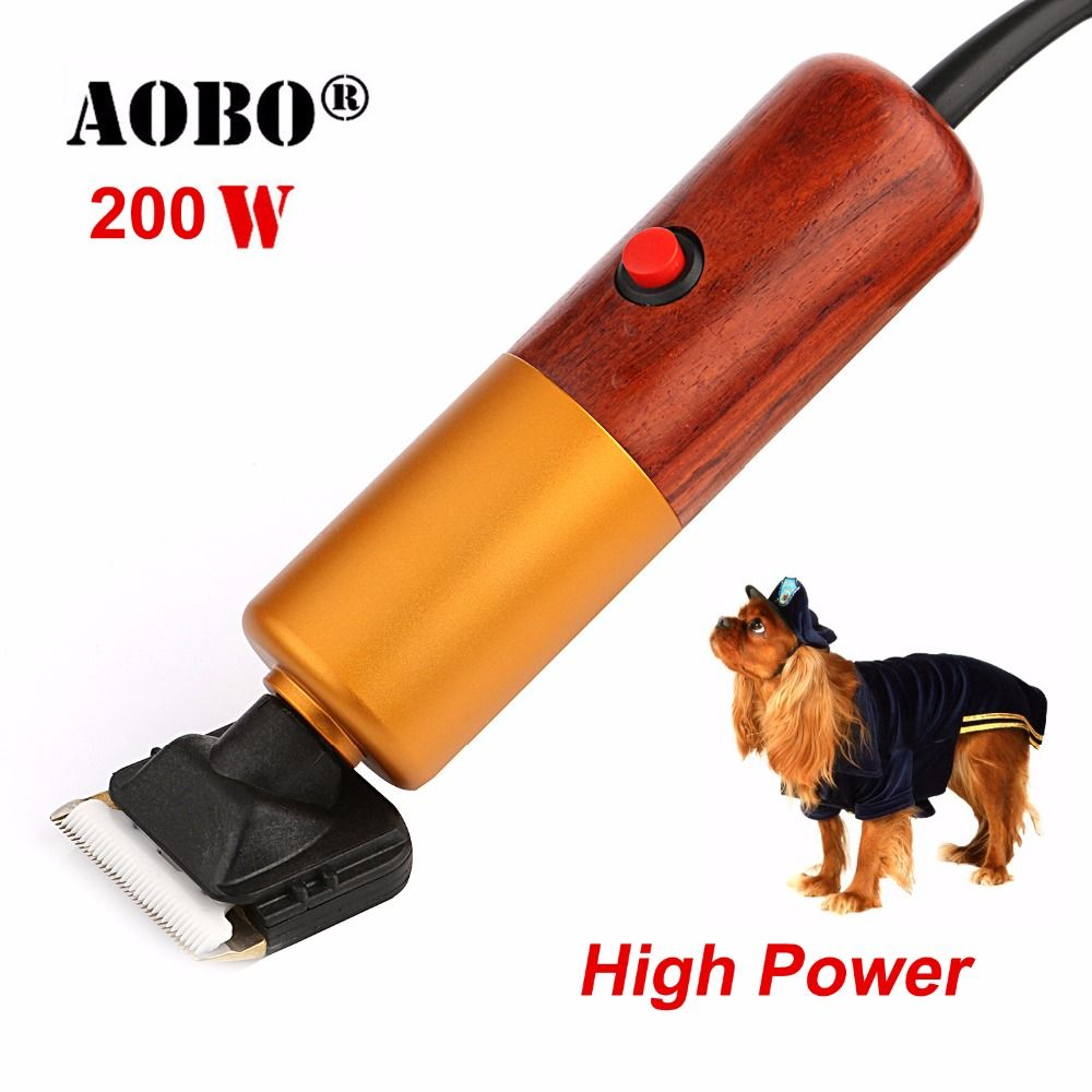 2018 Professional 200W High Power Pet Trimmer Dog shavers Cattle Rabbits Shaver Pet Grooming Electric Hair Clipper Machine