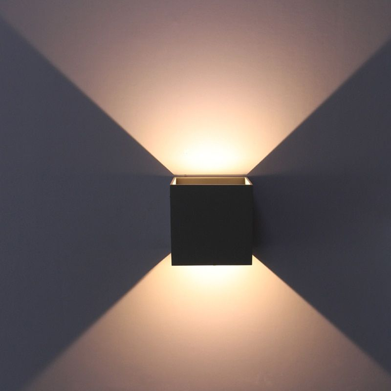 waterproof outdoor lighting ,adjustable surface mounted CUBE LED Wall Light, in&out-door wall lamps input100-240V