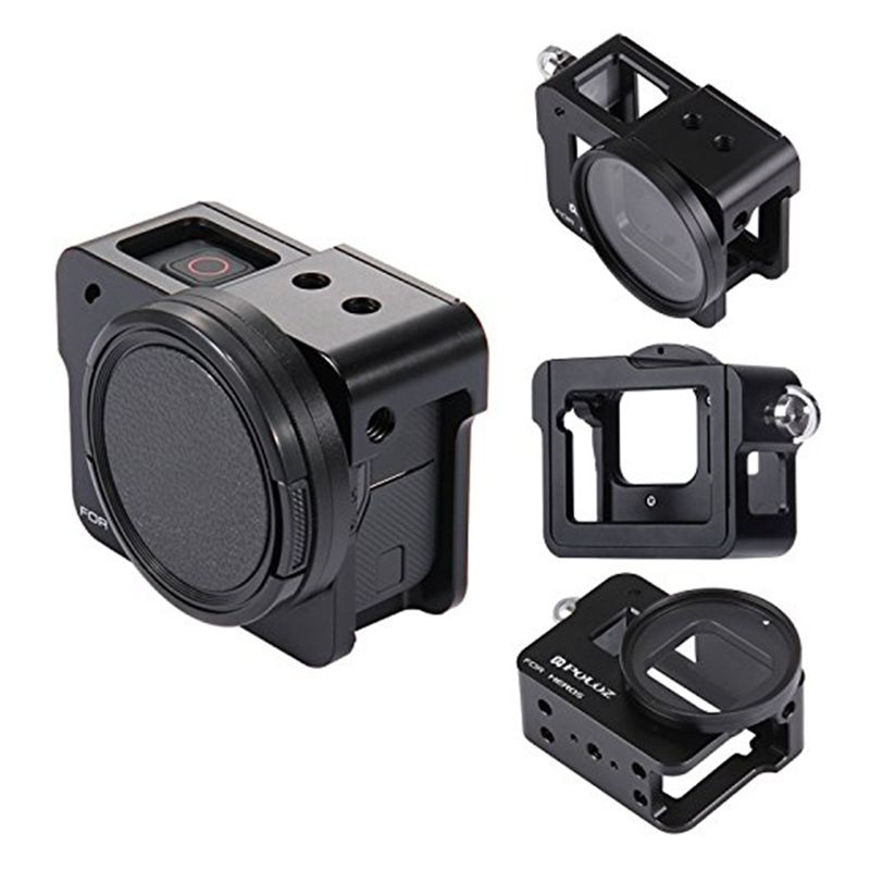 PULUZ for GoPro New Hero (2018) GoPro HERO6/5 CNC Aluminum Alloy Housing Shell Case Protective Cage with Insurance Frame & 52m