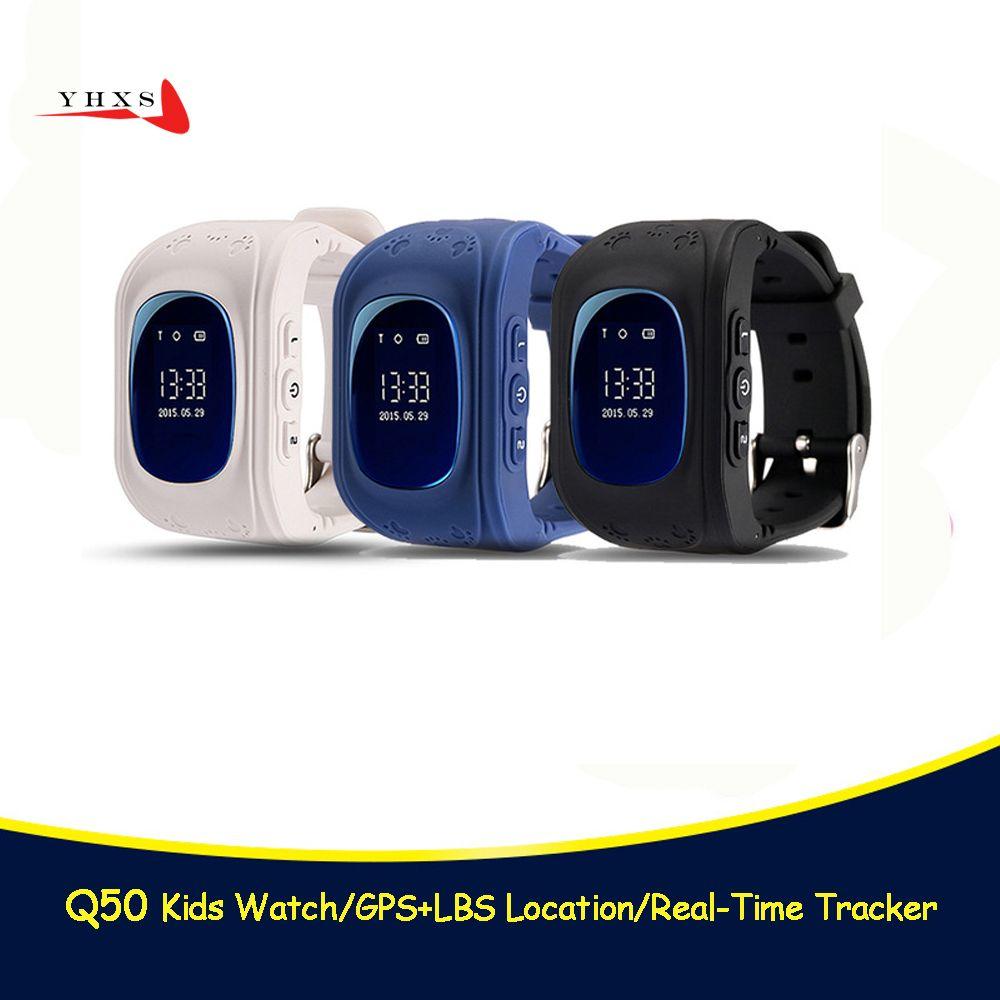 Q50 GPS montre intelligente enfant SOS appel localisation localisateur traqueur pour enfant Anti perdu moniteur à distance bébé montre-bracelet pk T58