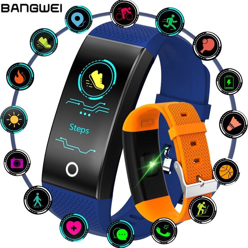 2018 New IP68 Waterproof Fitness Tracker Smart Bracelet OLED Color Touch Screen Sport Pedometer Smart Wristband PK mi band 3