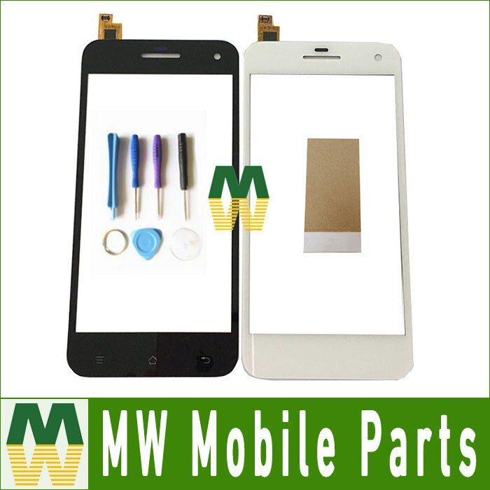 1PC/Lot Touch Screen Digitizer Touch Glass For Gigabyte Gsmart Guru G1 5.0 inch Black & White Color With Tool&Tape