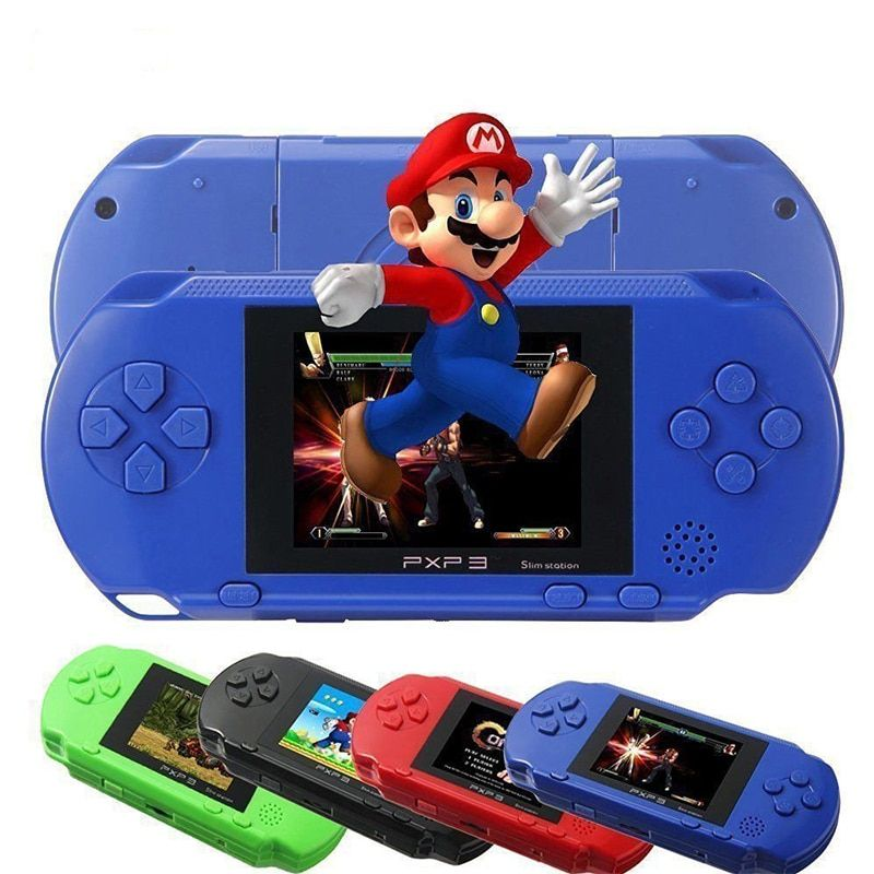 3 Inch 16 Bit PXP3 Handheld Game Player Video Game Console with AV Cable+2 Game Cards 150 Classic Games Child Gaming Players