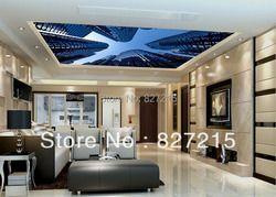 SV-2541 Новая мода с видом на здание печати стрейч потолок фильм как прочный, как потолочная панель