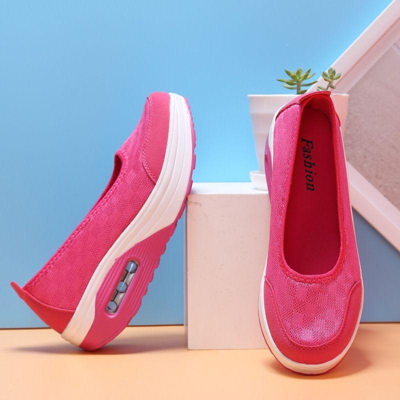 Air Cushion Shoes Woman Sports Shake Shoes Explosion Money Tennis Surface Nurse Shoes Sneaker European Station Women Shoes