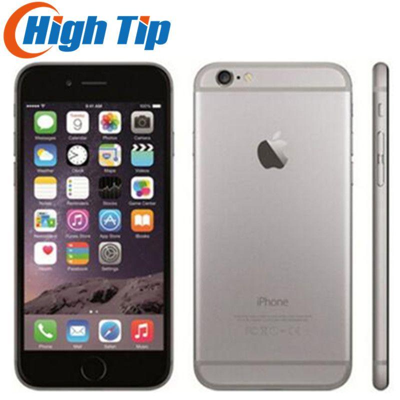 Original Apple iPhone 6 scellé boîte usine débloqué Smartphone double noyau 4.7 pouces 128 GB ROM 8MP multi-touch WCDMA 4G LTE téléphone