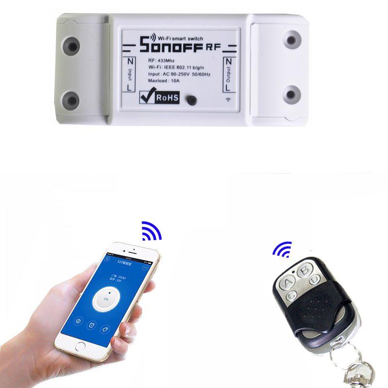 Itead Sonoff 433Mhz Sonoff RF WiFi sans fil commutateur de maison intelligente télécommande commutateur de synchronisation intelligent contrôle sans fil 10A