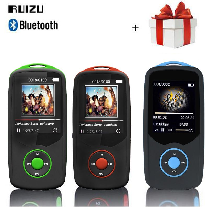 RUIZU X06 mp3 player Bluetooth 8GB 16GB sport 1.8 Screen Digital MP3 Music Player Video Player TF FM Radio HIFI Stereo walkman