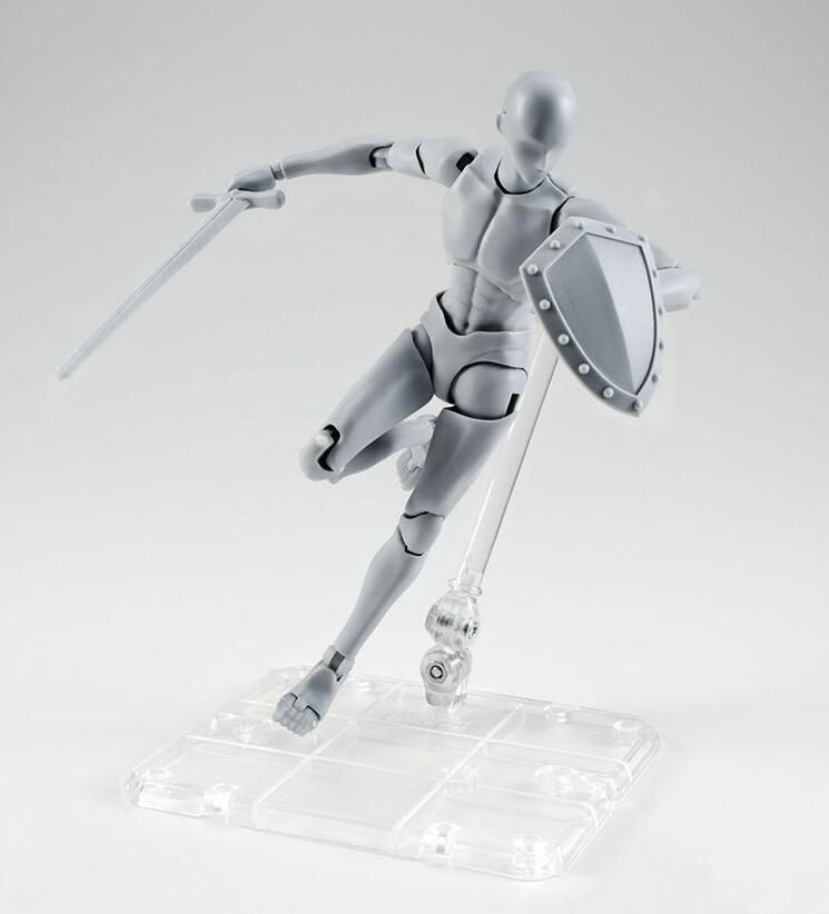 Original High Quality BODY KUN Takarai Rihito BODY CHAN Mange Drawing Figure DX BJD Gray Color PVC Action Collectible Model Toy