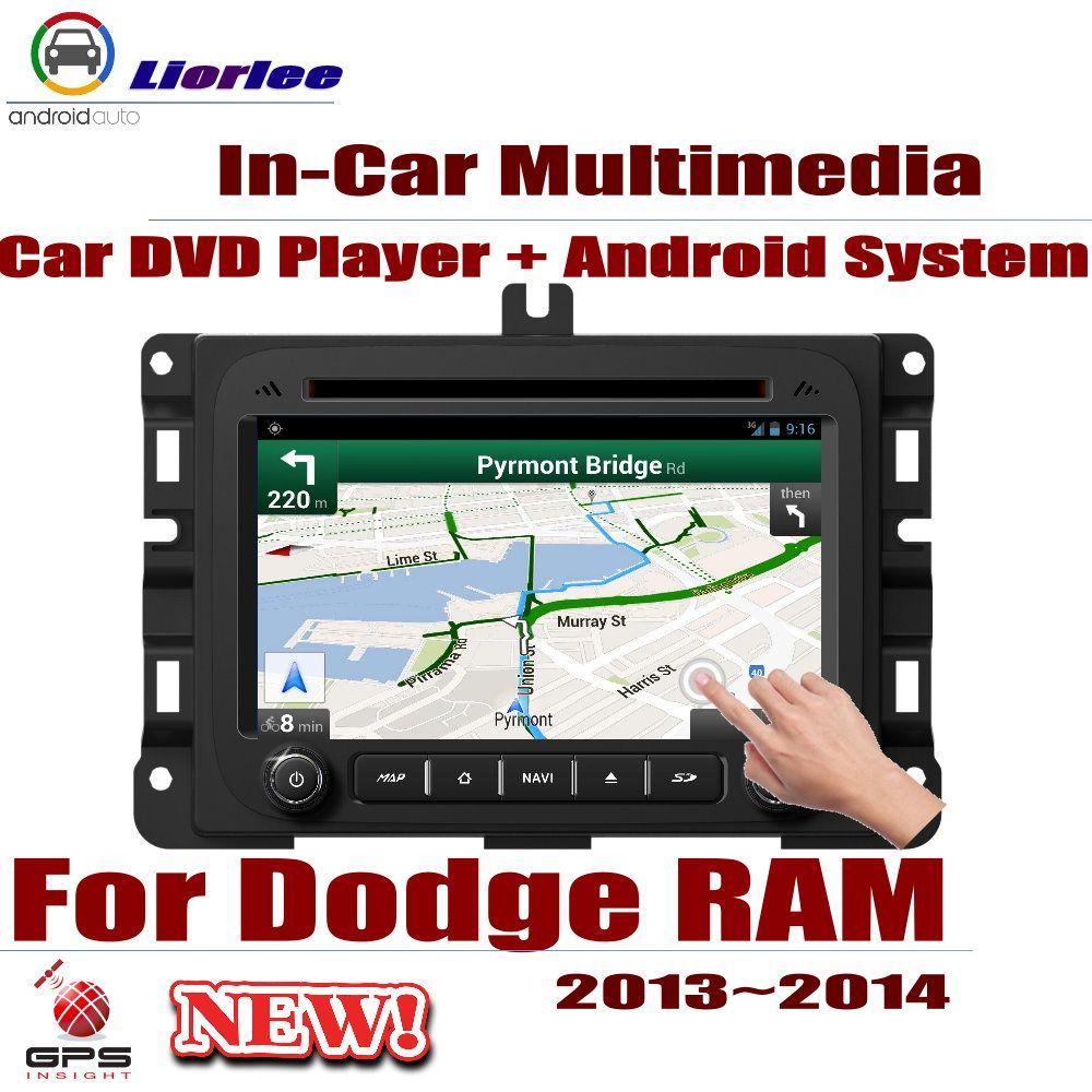 Für Dodge RAM 2013 ~ 2014 Auto Android GPS Navigation DVD Player Radio Stereo AMP BT USB SD AUX WIFI HD Bildschirm Multimedia