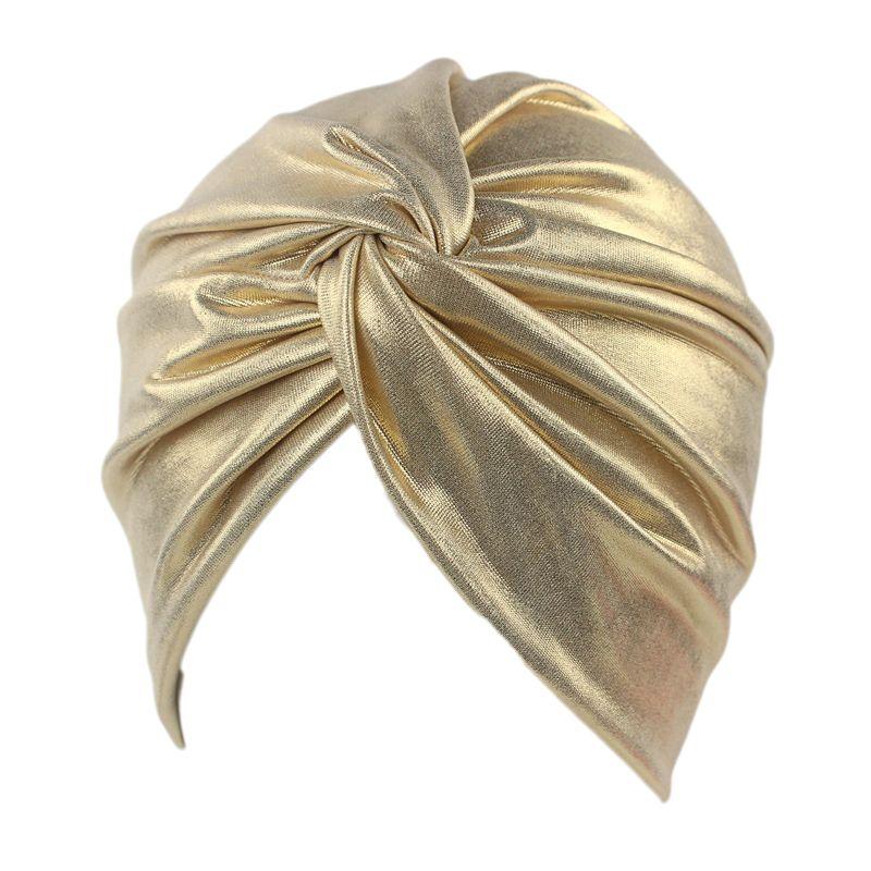 Le plus nouveau chapeau de tête métallique de mode des femmes de Turban de torsion de Bronze de luxe