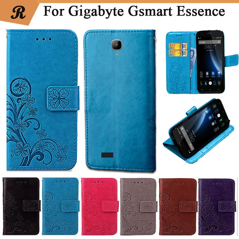 Newest For Gigabyte Gsmart Essence Factory Price Luxury Cool Printed Flower 100% Special PU Leather Flip case with Strap