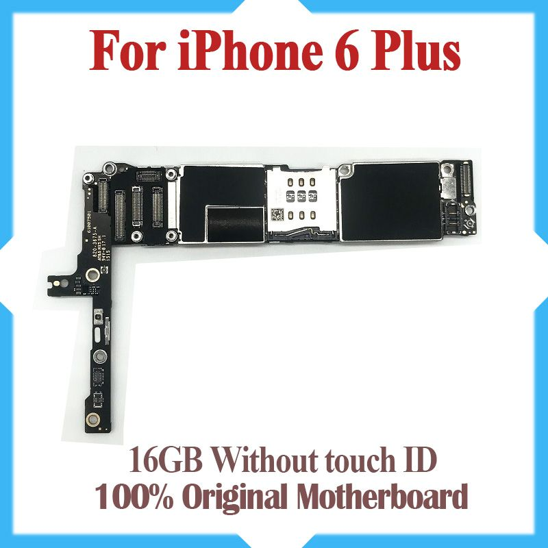 16GB for iphone 6 plus Motherboard without Touch ID,Original unlocked for iphone 6P Mainboard with IOS System,Free Shipping