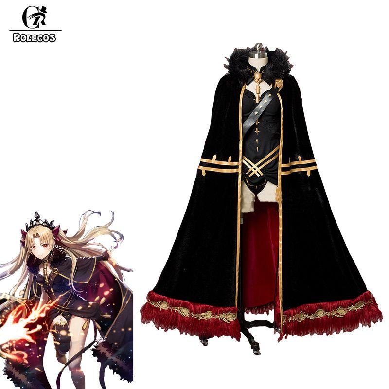 ROLECOS Spiel FGO Fate Grand Auftrag Cosplay Kostüme Ereshkigal Sexy Unterwäsche mit Mantel für Frauen Halloween Cosplay Kostüme