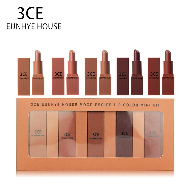3CE EUNHYE HOUSE 5 Charming Colors In Set Matte Lipstick Set Moisturizing Lasting Easy to wear Easy to bleach Lips makeup