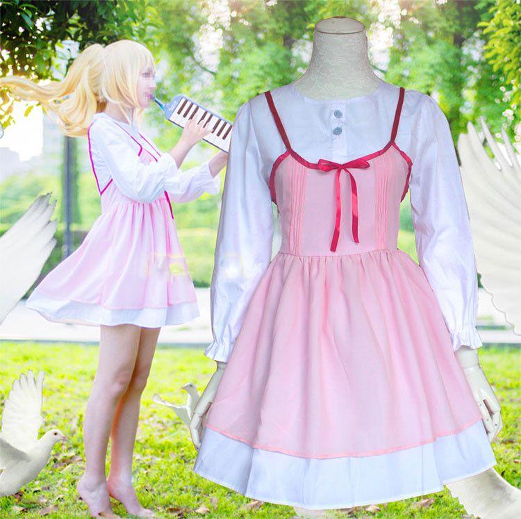 Anime Your Lie in April Cosplay Shigatsu wa Kimi no Uso Kaori Miyazono First episode Adult Pink Dress Cosplay Costume Girls