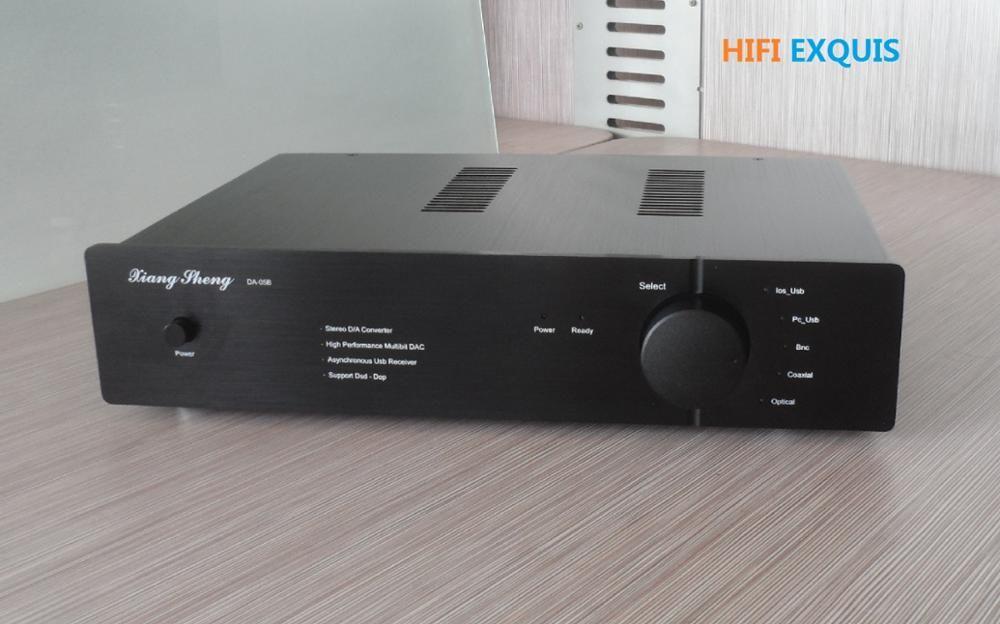 XiangSheng Flagship DAC-05B 2x AK4495 XMOS XLR DSD Tube DAC HIFI EXQUIS Xu208 Decoder 32bit 384K DSD256 Sound Card 6H3n Lamp