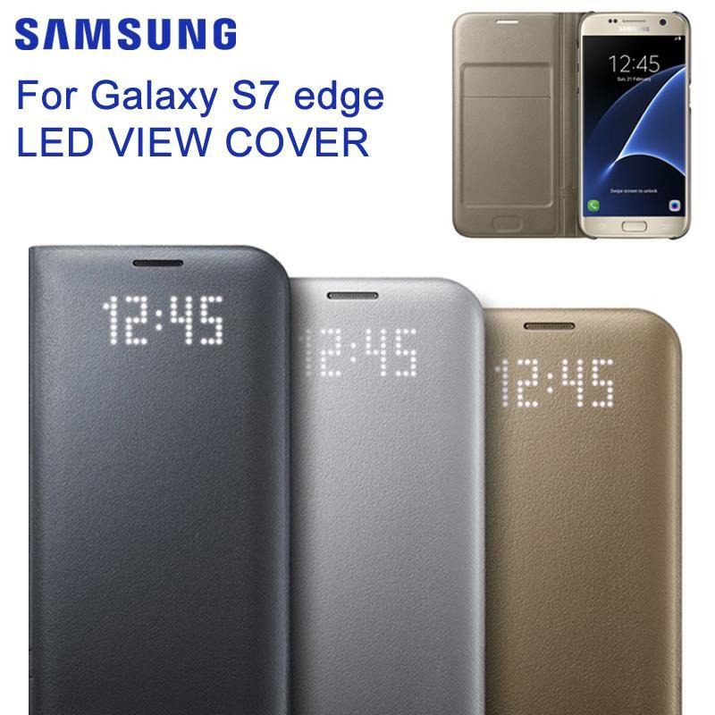 SAMSUNG Original Samsung LED View Cover For Samsung GALAXY S7 edge G9350 S7 G9300 G930A/V G935F FOR S8 Alcantara Phone Case