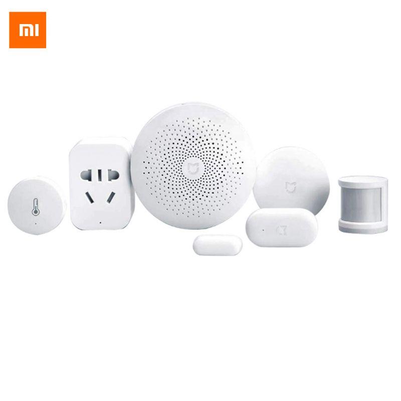Original Xiaomi Smart Home Kit Gateway Door Window Sensor Human Body Sensor Wireless Switch <font><b>Multifunctional</b></font> Smart Devices Suite