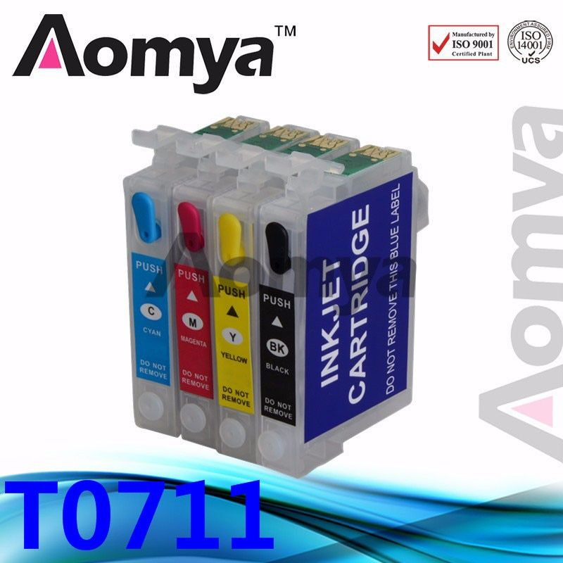 For Epson T0711 T0712 T0713 T0714 Refillable Ink Cartridge For Epson D78 D92 D120 DX4000 DX4050 DX4400 DX4450 DX5000 Printers