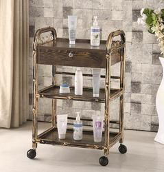 Three-tier trolley hairdressing tattoo cup rack beauty salon trolley nail tool car.