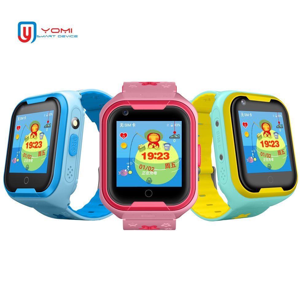 2018 neue 4g Video Smart Uhr für Kinder Baby Professionelle Wasserdichte GPS WIFI Positionierung Mit Video Chat Kamera SOS anti-verloren