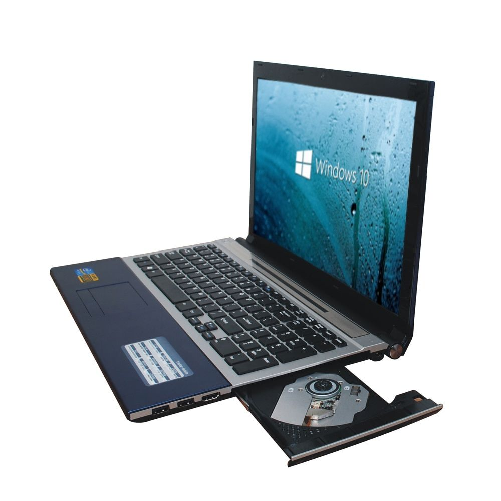 15.6 дюймов Быстрый Серфинг Windows7 ноутбук 8 ГБ + 1 ТБ HDD в тел celeron J1900 2.0 ГГц Quad Core WI-FI камера DVD, 8 ГБ ноутбук