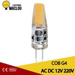 Светодиодный светильник G4 светодиодный AC DC затемнение 12 В 220 В 3 Вт COB G4 лампа светодиодный домашнее ламповое освещение Замена галогенного пр...
