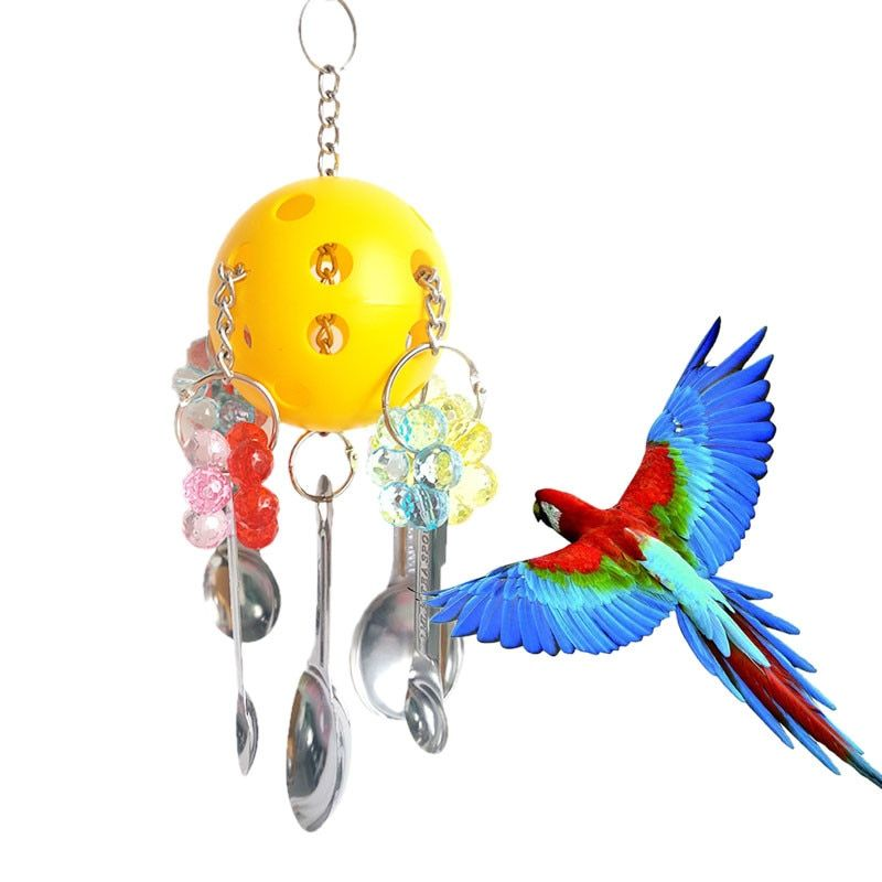 Misterolina Cockatiel Parrot Chew Toys Ball Funny Bird Cage Toy For Pet Hanging Standing Climbing Large Small Birds Accessoires